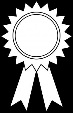 Award Ribbon Outline - Free Clip Art