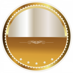 Gold and White Seal Badge PNG Clipart Picture | Bonitas imagenes ...
