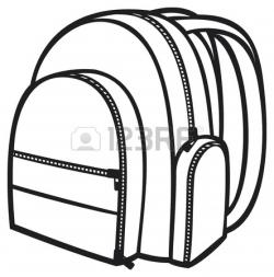 Clip Art Black And White Bag Clipart
