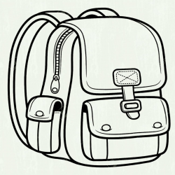 School Bag Clipart Black And White Station - Hardscaping Pea Gravel ...