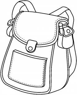 bag clipart black and white | Clipart Station