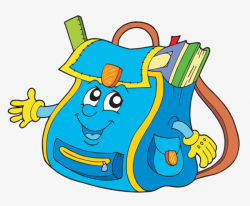 Cartoon Bag, School Bag, Cartoon, Filled With Books PNG Image and ...