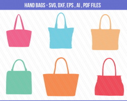 Hand bags svg cutting files, DXF, hand bags for girls SVG, bags ...