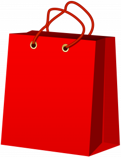 Red Gift Bag PNG Clip Art - Best WEB Clipart
