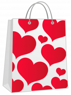 Valentine Red Gift Bag with Hearts PNG Clipart   Gallery ...