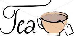 Brewing Tea Bag Clipart | Refreshments Word Art