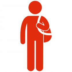 Clipart - Silhouette man with bag