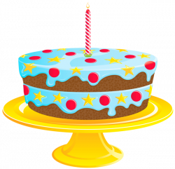 Blue Birthday Cake PNG Clipart | Gallery Yopriceville - High ...