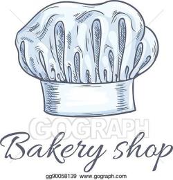 Vector Illustration - Bakery shop emblem of baker chef toque hat ...