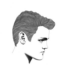 Items similar to Chet Baker Portrait Digital Drawing print 8x10