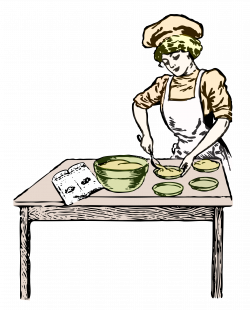 Clipart - Baker in color