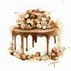 691 best Cakes and desserts illustrations images on Pinterest ...