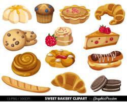 Bakery clipart Sweet Treat Bakery clip art Breakfast clipart
