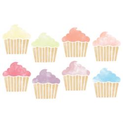Watercolor Cupcake Clipart // Planner Clipart // Baking Clip Art ...