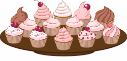 Bake sale clip art of a cupcake with sprinkles cake clipart ...
