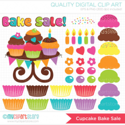 Clipart Bake Sale / Birthday make your own Cupcakes