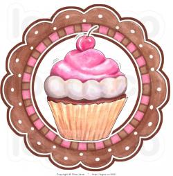 Royalty Free Vector Of A Cupcake And Circle Bakery Logo By Gina Jane ...