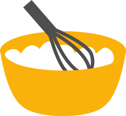 OnlineLabels Clip Art - Baking Whisk And Bowl