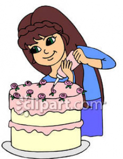 Icing clipart baking cake - Pencil and in color icing clipart baking ...