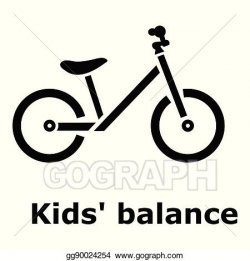Vector Art - Kids balance bike icon, simple style. Clipart Drawing ...