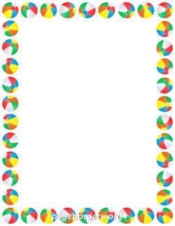 Printable beach ball border. Use the border in Microsoft Word or ...