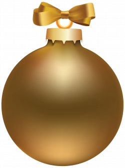Golden Style Christmas Ball PNG Clipart - Best WEB Clipart