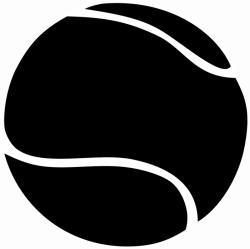 Tennis ball clipart black and white | Pet Outlet Painting ideas ...