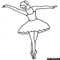 Ballerina clipart coloring - Pencil and in color ballerina clipart ...