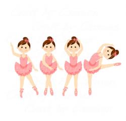 Ballerina clip art dancer ballet digital art scrapbook