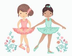 Ballerina Clipart, Little Ballerinas Clip Art, Ballet Graphic ...