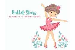 Ballerina Ballet Dancers Clipart ~ Illustrations ~ Creative Market