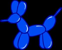 Cute Blue Balloon Animal - Free Clip Art