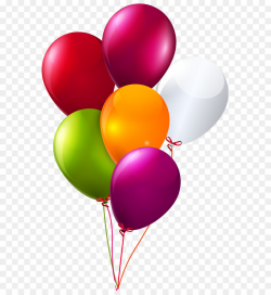 Balloon Birthday Clip art - Colorful Bunch of Balloons Clipart PNG ...