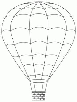 Hot Air Balloon Clipart Black And White | Shop partiko.com Toys ...