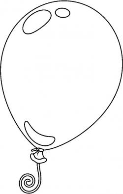 Elegant Of Balloon Clipart Black And White - Letter Master