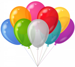 Bunch Transparent Colorful Balloons Clipart | Balloons | Pinterest ...