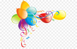 Birthday cake Balloon Clip art - Large Transparent Balloons Clipart ...