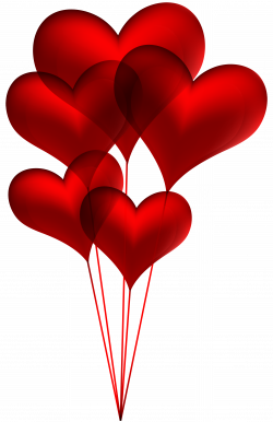 Red Heart Balloons Transparent PNG Clip Art Image | Gallery ...