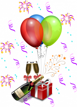 Balloon Clipart - Free Graphics of Colorful Party Balloons