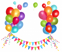 Transparent Party Streamer and Balloons PNG Clipart Picture ...