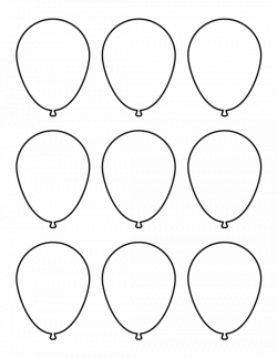 Small balloon pattern. Use the printable pattern for crafts ...
