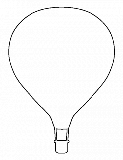 Hot air balloon pattern. Use the printable outline for crafts ...