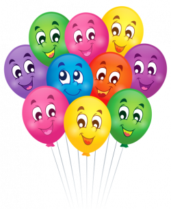 Balloons with Faces Cartoon PNG Clipart Picture | Клипарты ...