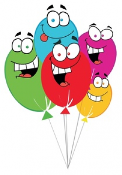 Free Balloons Clip Art Image - Colorful Birthday Ballons with ...