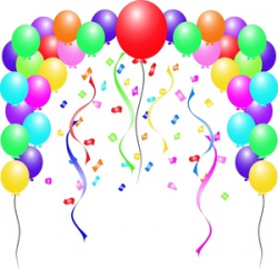 Celebration Balloons Clipart