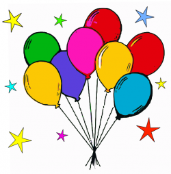 Free birthday balloon clip art free clipart images 6 - Clipartix