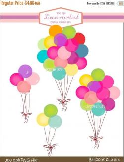 ON SALE balloons clipart digital clip art by Decorartistclipart ...