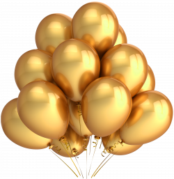 Transparent Gold Balloons Clipart | Misc | Pinterest | Gold balloons ...