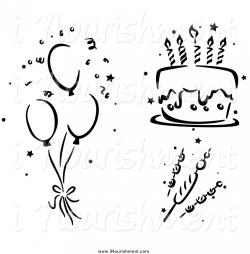 Fancy Inspiration Ideas Balloon Clipart Black And White Birthday ...