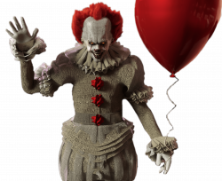 IT Pennywise With Red Balloon transparent PNG - StickPNG